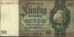 Deutsches Reich Rosenbg: 175b, Udr.-Bst.: C, Serie: F-K, KN 8-stellig Usato (III) 1933 50 RM - 50 Reichsmark