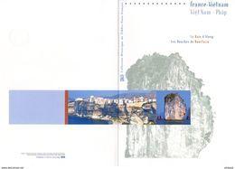 """"""" 2008 FRANCE / VIETNAM """"  Sur Doc. Officiel De 4 Pages. N° YT 4284 4285 + Timbres Vietnam. Parfait état ! DPO - Emissions Communes"""