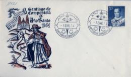 1954 , CORUÑA , AÑO SANTO - SANTIAGO DE COMPOSTELA , FRANQUEO ED. 1102 , SAN ANTONIO MARIA CLARET - 1931-Hoy: 2ª República - ... Juan Carlos I