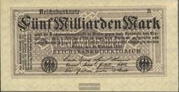 Deutsches Reich Rosenbg: 120d, Senza Kontrollnummer Con Firmenzeichen Usato (III) 1923 5 Miliardi Di Euro Mark - [ 3] 1918-1933 : Repubblica  Di Weimar