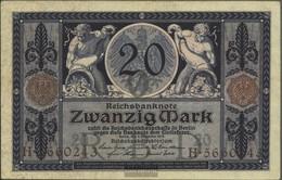 Deutsches Reich Rosenbg: 53 Usato (III) 1915 20 Mark - [ 2] 1871-1918 : Impero Tedesco
