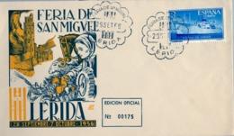 1956 , LÉRIDA , FERIA DE SAN MIGUEL , FR. ED. 1191 - 1951-60 Cartas