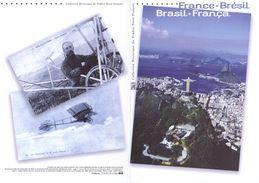 """"""" FRANCE / BRESIL """"  Sur Doc. Officiel De 2008. N° YT 4255 4256 + Timbres Brésil. Parfait état DPO - Emissions Communes"""