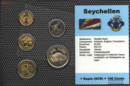 Seychelles Stgl./unzirkuliert Kursmünzen Stgl./unzirkuliert 1997-2004 1 Cent Until 1 Rupee - Seychelles
