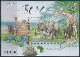 B3905 Hungary Fauna Animal Geography S/S MNH - Giraffes