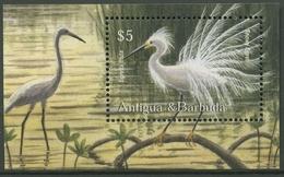Antigua Und Barbuda 2002 Vögel Schmuckreiher Block 553 Postfrisch (C94158) - Antigua And Barbuda (1981-...)