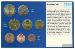 Greece 2002 Stgl./unzirkuliert Kursmünzensatz With Geheimzeichen 2002 Euro-first Edition Fremdprägung - Grèce