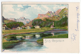 Suisse -- SILS-BASEGLIA - Illustrateur G.Giacometti -beau Timbre- Cachet 1972 --COPIE Carte Précurseur-- - GR Grisons