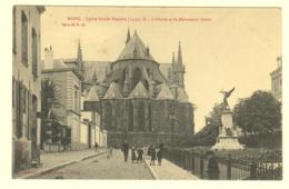 A0123[Postkaart] Mons. - Eglise Sainte-Waudru ... L'abside Et Le Monument Dolez (Excelsior Albert Sugg) Sint Waltrudis - Mons