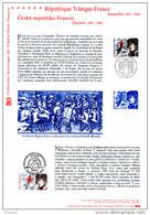 """"""" FRANCE / TCHEQUIE NAPOLEON AUSTERLITZ """" Sur Document Officiel De 2005 N° YT 3782 + TCHEQUIE N° 399. DPO - Emissions Communes"""