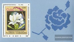 Cuba Block79 (complete Issue) Fine Used / Cancelled 1983 Flowers - Blocks & Sheetlets