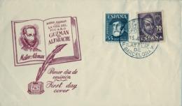 1948 , PERSONAJES , ED. 1035 / 1036 , EXPOSICIÓN FILATÉLICA DE BARCELONA - 1931-Hoy: 2ª República - ... Juan Carlos I