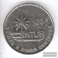 Cuba Km-number. : 418 1989 Type 2a Very Fine Steel Very Fine 1989 25 Centavos Palme - Cuba