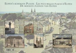 Blok 249** Stadspleinen Van Eupen 4685/89** Les Places De La Ville D'Eupen - Eupens Schönste Plätze !! - Belgium