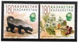 Kazakhstan 2009  . Flora And Fauna. 2v: 180, 180.  Michel # 662-63 - Kazachstan