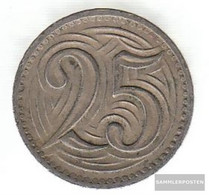 Czechoslovakia Km-number. : 16 1933 Extremely Fine Copper-Nickel Extremely Fine 1933 25 Haleru Leo - Czechoslovakia