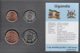 Uganda 1987 Stgl./unzirkuliert Kursmünzen 1987 1 Schilling Until 10 Schilling - Uganda