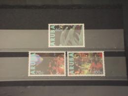 ARUBA - 1990 FAUNA MARINA 3  VALORI  - NUOVI(++) - Curaçao, Antille Olandesi, Aruba