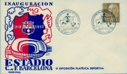 1957 , BARCELONA - INAUGURACIÓN ESTADIO FÚTBOL CLUB BARCELONA , SOCCER , FOOTBALL , FUSSBALL - 1951-60 Covers