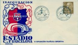 1957 , BARCELONA - INAUGURACIÓN ESTADIO FÚTBOL CLUB BARCELONA , SOCCER , FOOTBALL , FUSSBALL - 1931-Hoy: 2ª República - ... Juan Carlos I