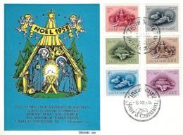 LUXEMBOURG  -  FDC     5.12.1955   Caritas Folklore III - Comptoir Philatélique MATHIAS BASTIAN - FDC