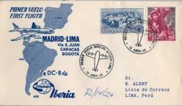 1963 , PRIMER VUELO DIRECTO MADRID - LIMA , PERÚ , LLEGADA - 1931-Hoy: 2ª República - ... Juan Carlos I