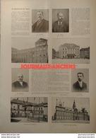 1904 LES MUNICIPALITÉS DE FRANCE - LILLE M. DELESALLE - ROUBAIX M. MOTTE  - NANTES M. SARRADIN - REIMS Dr POZZI - Livres, BD, Revues