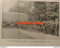 1904 LES BICYCLETTES PLIANTES - UNE FETES MILITAIRE AUX TUILLERIES - 1900 - 1949