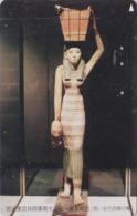 Télécarte Japon / 110-016 - EGYPTE - Sculpture - Vie Quotidienne - PORTEUSE D'EAU - EGYPT Rel Japan Phonecard - 244 - Cultura