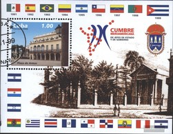 Cuba Block156 (complete Issue) Fine Used / Cancelled 1999 Conference The Government - Blocks & Sheetlets