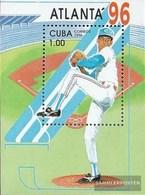 Cuba Block142 (complete Issue) Fine Used / Cancelled 1996 Olympic. Summer`96, Atlanta - Blocchi & Foglietti