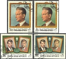 North Yemen (Arab Republic.) 845A-848A (complete Issue) Fine Used / Cancelled 1968 International Human Rights - Yemen
