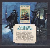 19k * NICARAGUA * BLOCK NACIMIENTO DE LA LIBERTAD * POSTFRISCH **! - Nicaragua