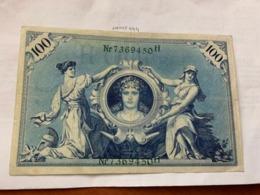 Germany 100 Mark Banknote 1908 - 100 Mark