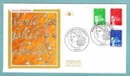 FDC France 1997 - Marianne Du 14 Juillet 1997 - YT 3083 - 3091 Et 3093 - Paris - FDC