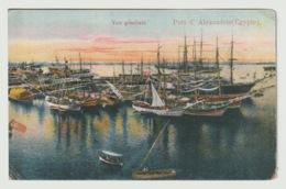 Egypt - Vintage Post Card - Port Of Alexandria - Aegyptologie