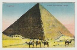 Egypt - Vintage Post Card - Pyramids Of Giza - Aegyptologie