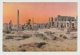 Egypt - Vintage Post Card - KARNAK - Registered To Italy - Aegyptologie