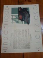1930? PUBBLICITA' VINTAGE TYPEWRITER MACCHINA DA SCRIVERE UNDERWOOD MILANO - Publicités