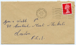 Postmark On Cover FINSBURY PARK, London, 1969 / Smithfield Central Meat Markets - Covers & Documents