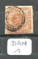 DAN YT 4 En Obl RR 1 Belle Marge, 3 Marges Exceptionnelles, 2 Voisins - Used Stamps