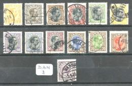 DAN YT 105/116 +111a En Obl - 1913-47 (Christian X)