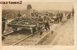 EIN NEUER SCHIENENWEG DURCH FEINDESLAND CAMP DE PRISONNIERS MILITAIRES DEUTSCHLAND Gefangenenlage - Guerra 1914-18