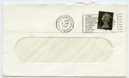 Slogan Postmark On Cover NATIONAL POSTAL MUSEUM, London, 1968 - 1952-.... (Elizabeth II)
