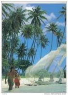 Carte Postale Tahiti  Pêche à L'Epervier   Trés Beau Plan - Tahiti