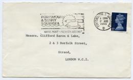 Slogan Postmark On Cover PORTSMOUTH & SOUTHSEA, 1969 / Strand, London - 1952-.... (Elizabeth II)