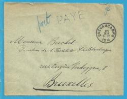 Brief Met Stempel QUEVAUCAMPS Met Stempel PAYE (noodstempel) - Postmark Collection