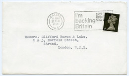 Slogan Postmark On Cover I'M BACKING BRITAIN, 1968 / EALING / Strand, London - Covers & Documents