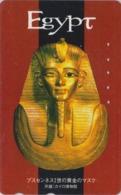 Télécarte Japon / 110-016 -  EGYPTE - MASQUE De PHARAON En Or - GOLD MASK EGYPT Japan Phonecard  - MASKE - 253 - Cultura