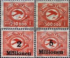 Danzica 177-180 (completa Edizione) MNH 1923 Airmail - Danzig
